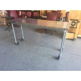 Rolling Stainless Steel Table Preview
