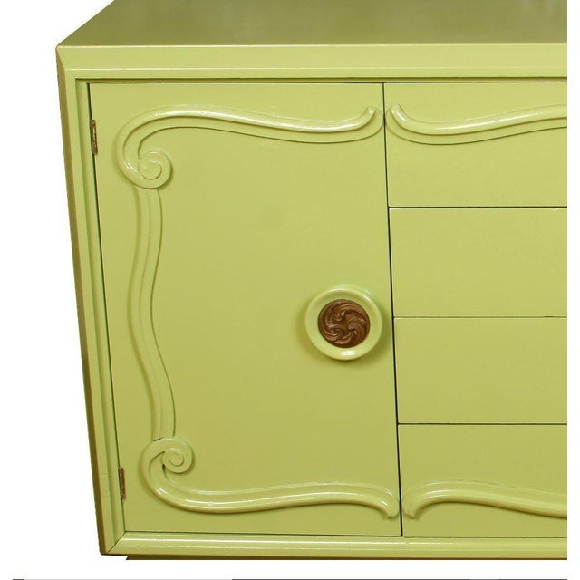 Mid-Century Modern Midcentury Credenza Painted Green, circa 1960 For Sale - Image 3 of 5
