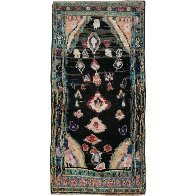 "Vintage Persian Gabbeh Rug – Size: 1' 11"" X 4' 2"" For Sale - Image 9 of 9"