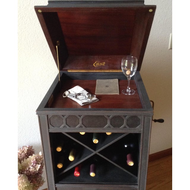 Antique Edison Phonograph Dry Bar For Sale - Image 12 of 13
