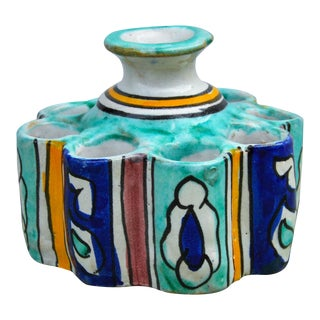 Colorful Moroccan Ceramic Catchall For Sale