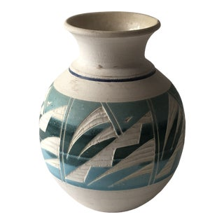 Mexican Aceuloza Pottery Vessel For Sale