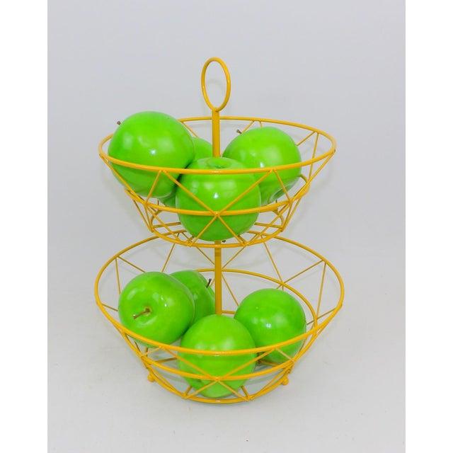 Yellow Metal Fruit Basket - Image 2 of 6
