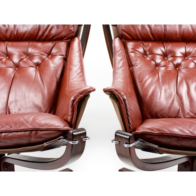1970s 1970s Sigurd Resell for Vatne Møbler Falcon Lounge Chairs- A Pair For Sale - Image 5 of 13