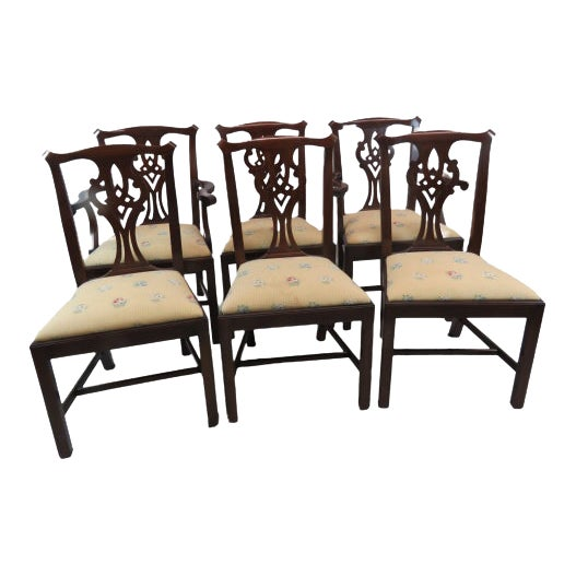 Henkel Harris Chippendale Dining Mahogany Chairs Model 101 - Set of 6 For Sale