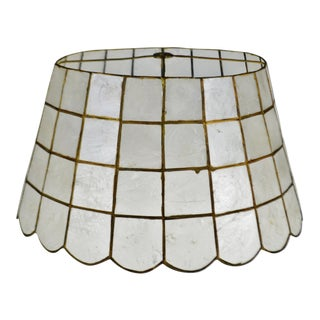 Vintage Capiz Shell lampshade For Sale