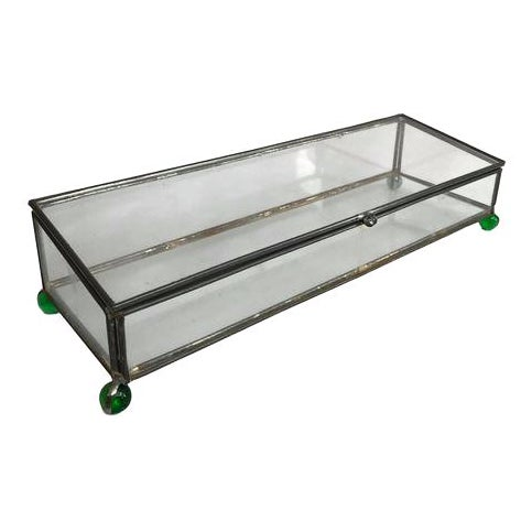 Rectangular Glass Box on 4 Marble Feet - Image 1 of 8