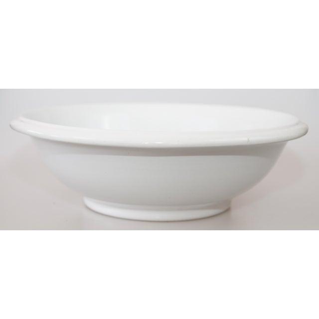 Ceramic Large Antique English White Ironstone Bowl For Sale - Image 7 of 7