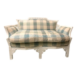 1930s Carved Settee