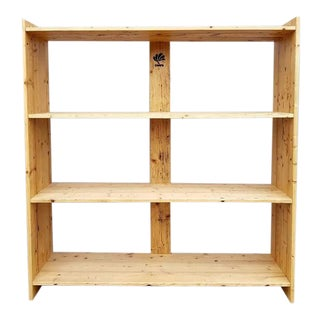 Handmade Large Solid Rustic Reclaimed Pine Wood Timber Storage Furniture Bookshelf For Sale