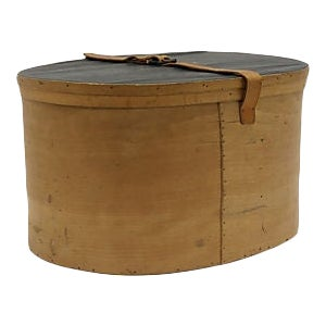 Mid-Century Ladies Travel Hat Box For Sale