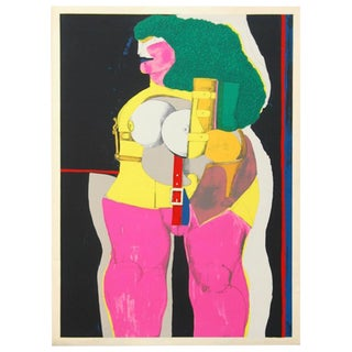 """1971 """"Green Haired Lady"""" Print by Richard Lindner"""