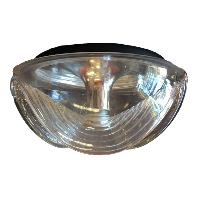 Peill & Putzler Clear Glass & Chrome Wave Ceiling Light - Image 1 of 6