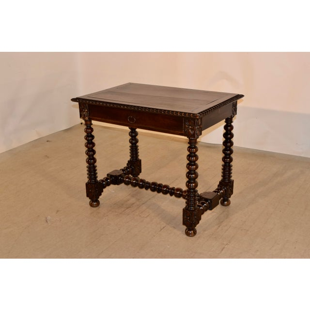 French Provincial 18th Century Walnut Side Table For Sale - Image 3 of 10