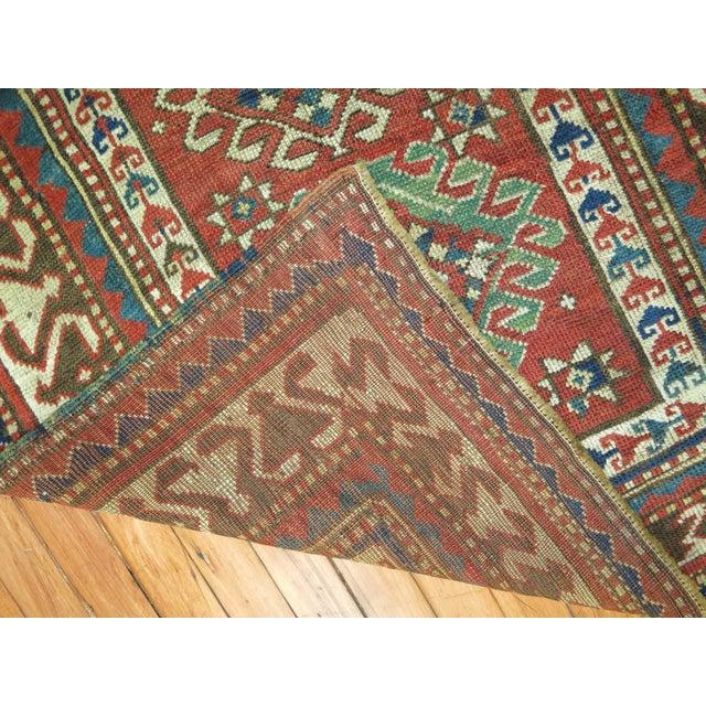 Antique Caucasian Kazak Rug- 3' x 4'3'' - Image 5 of 7