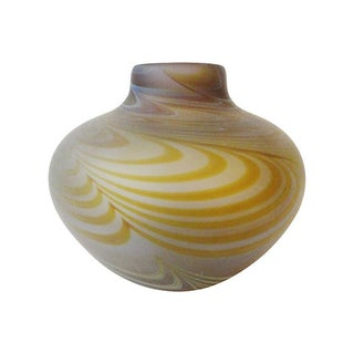 American Pull-Feather Design Vase For Sale