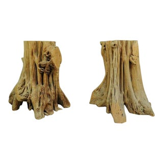 Vintage Mid Century Cypress Tree Root Trunk Driftwood Dining Table Base For Sale