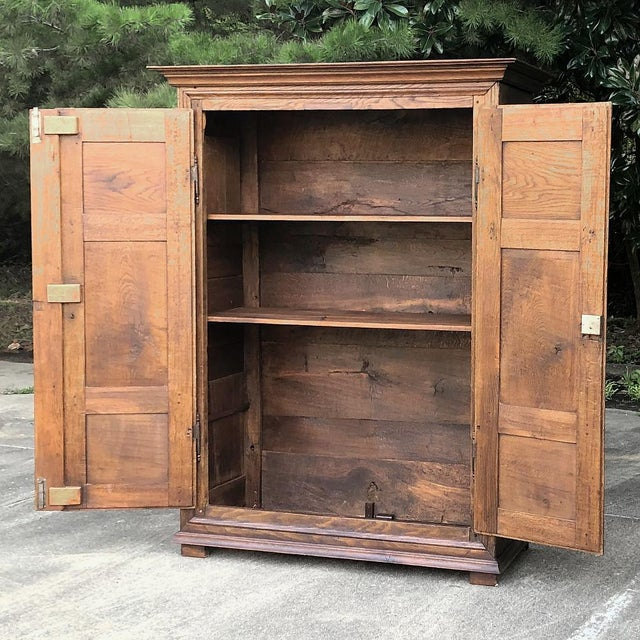 Wood Early 19th Century Country French Armoire For Sale - Image 7 of 13
