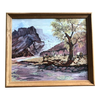 Late 20th Century Southwest Landscape Framed Painting For Sale