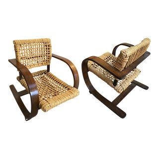 Audoux Minet for Vibo Pair of Rope Chair For Sale