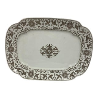 Late 19th Century Meakin & Co. Iron Stone Platter For Sale