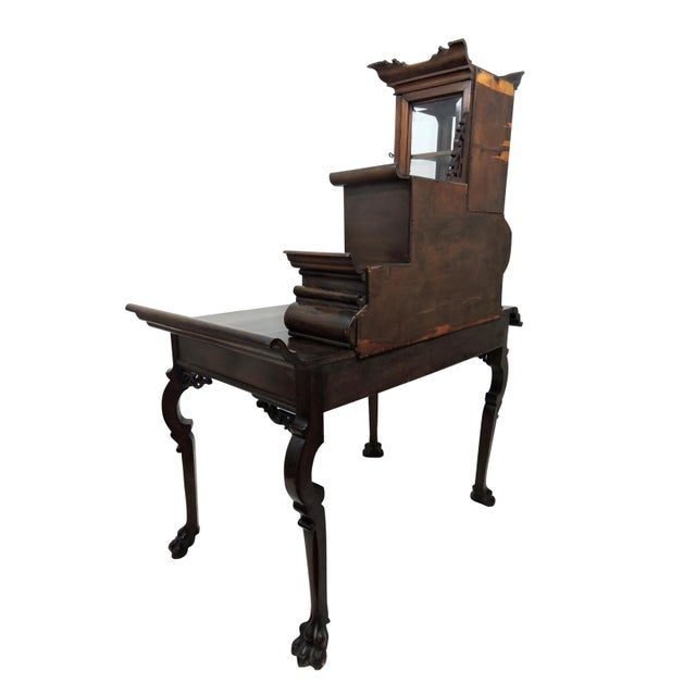 Early 20th Century Antique French/Japanese Secretaire Attributed to Gabriel Verdoit, Etagere Desk/Console For Sale - Image 5 of 9