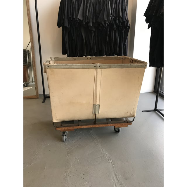 Vintage Petite Dandux Laundry Cart For Sale In Los Angeles - Image 6 of 6