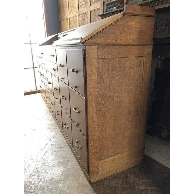 Antique Bankers File Cabinet Drawer Unit For Sale - Image 4 of 11