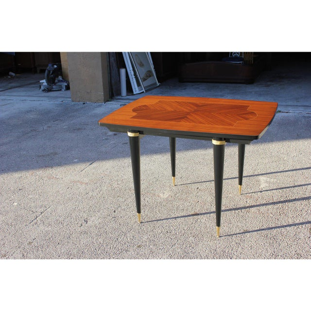 1940s Art Deco Exotic Macassar Ebony Game Table For Sale In Miami - Image 6 of 13