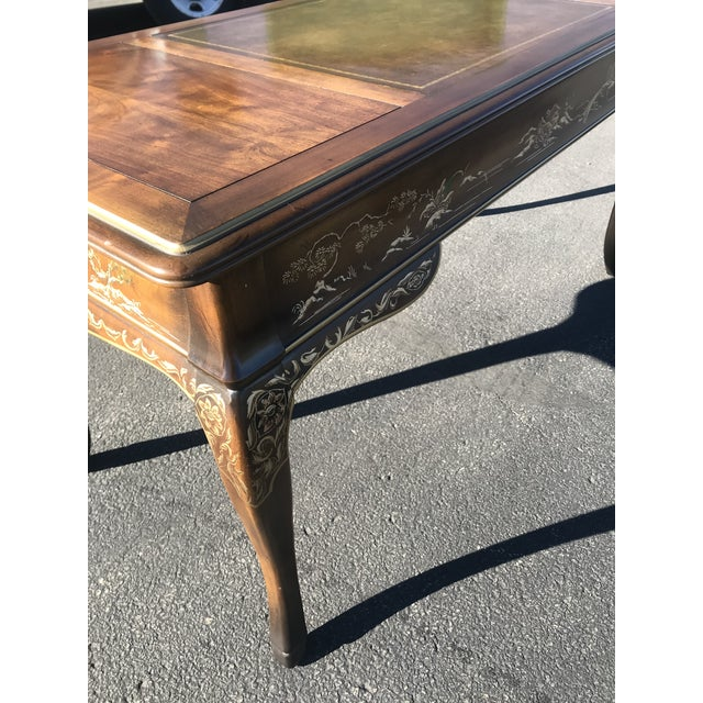 1980s Chinoiserie Drexel Writing Desk With Matching Chair -2 Pieces For Sale - Image 10 of 12