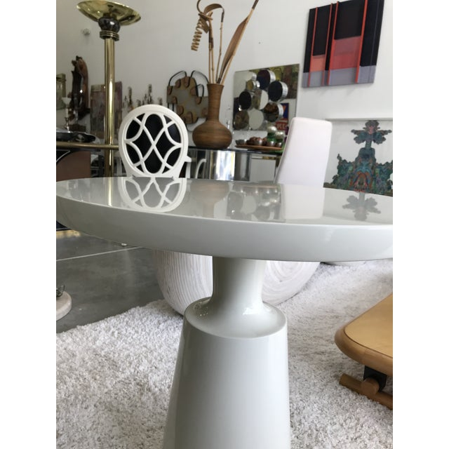 Wood Signed Holly Hunt End Table For Sale - Image 7 of 10
