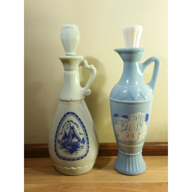 Vintage Jim Beam Milk Glass Decanters - A Pair - Image 3 of 8