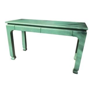 Harrison Van Horn Raffia Ming Style Desk For Sale