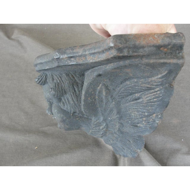 Cast Iron Wall Sconce Planter With Cherub Face For Sale In Tampa - Image 6 of 8