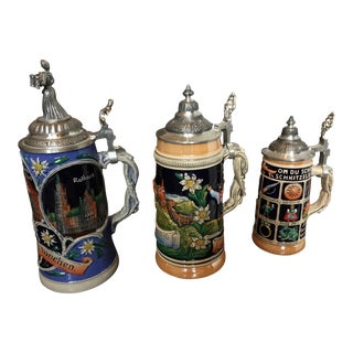 Limited Editon Thewalt Porcelain Beer Steins - Set of 3 For Sale