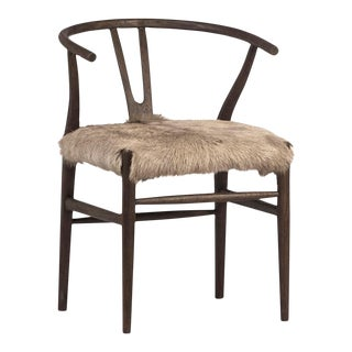 Oak Horseshoe Frame Dining Chair For Sale