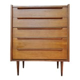 Image of Vintage Mid-Century Modern High Boy Dresser For Sale