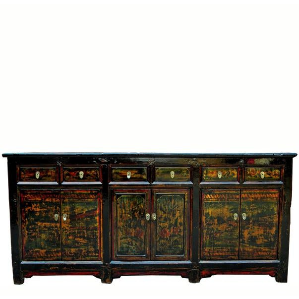 1910s Asian Antique Green Qinghai Sideboard For Sale - Image 13 of 13