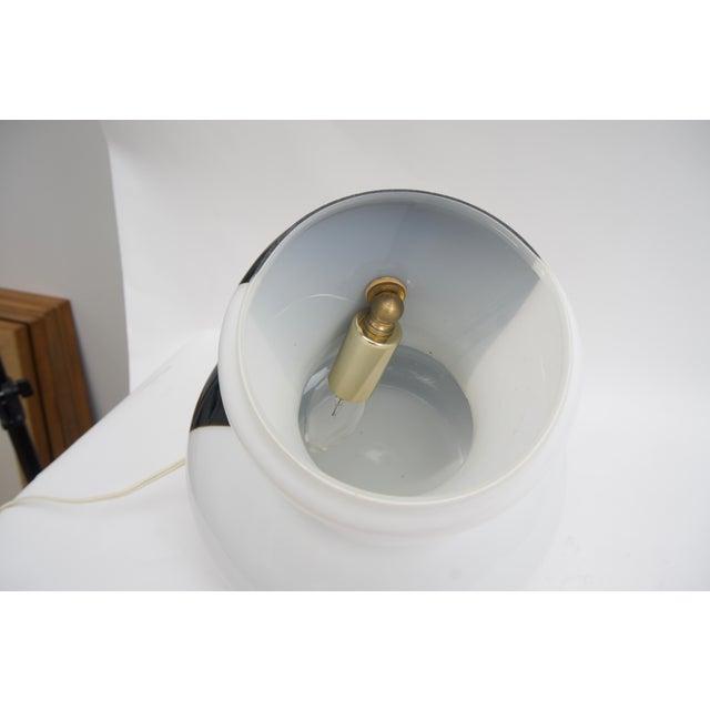 Mid 20th Century Itri Vetri Murano Glass Lamp Mod Black and White For Sale - Image 5 of 7