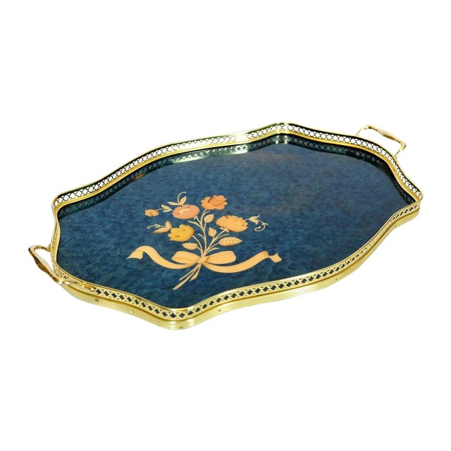 Vintage Italian Marquetry Tray - Image 1 of 6