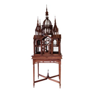 Vintage Victorian Style Bird Cage For Sale
