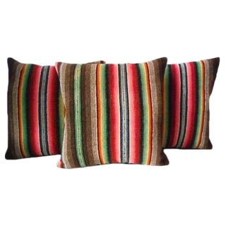 Mexican Serape Colorful Weaving Pillows For Sale