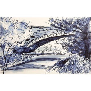 Stone Bridge Pen & Ink Drawing Study For Sale