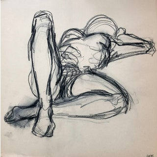 1980s Female Nude Figure Drawing For Sale