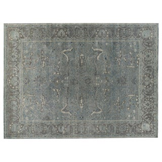 Stark Studio Rugs Traditional Soriano Moss 100% Wool Rug - 9′ × 12′ For Sale