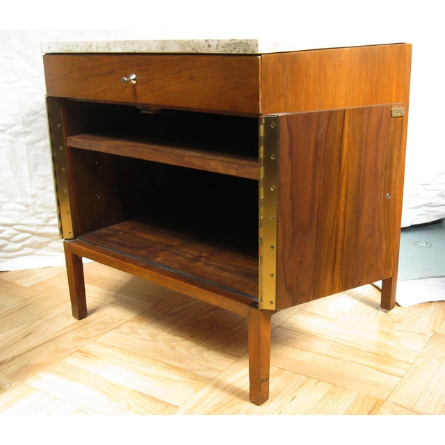 Paul McCobb Paul McCobb Calvin Side Tables - a Pair, Storage Cabinets For Sale - Image 4 of 12