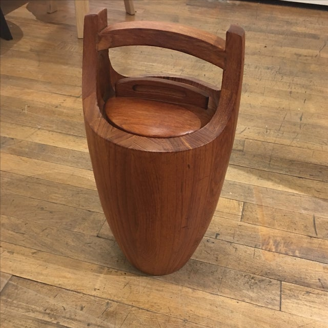 Danish vintage viking ice bucket by Dansk. Great wooden piece for display or to keep refreshing ice. Beautiful...