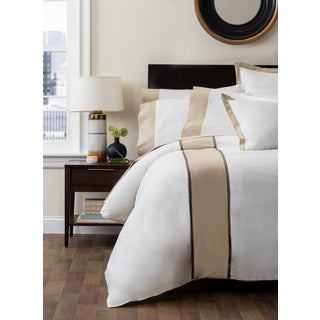 Monte Carlo Banded Duvet Cover Queen - Pumice Preview