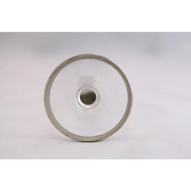 Antique Hammered Sterling & Crystal Bud Vase - Image 9 of 9