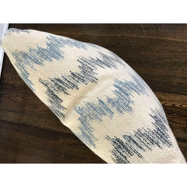 Custom Blue and White Chevron Pillows - a Pair - Image 5 of 5